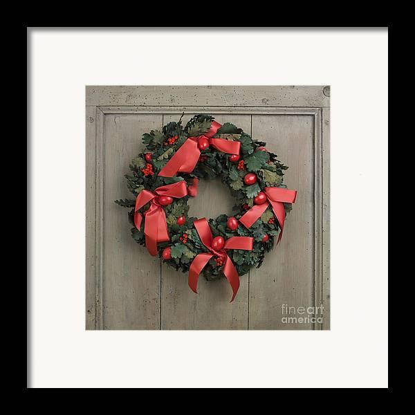 Advent Framed Print featuring the photograph Christmas Wreath by Bernard Jaubert