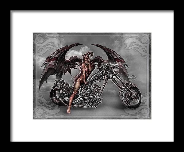 c2ec14f6ec4 Angel Digital Art Framed Print featuring the digital art Chrome Dragon by David  Bollt