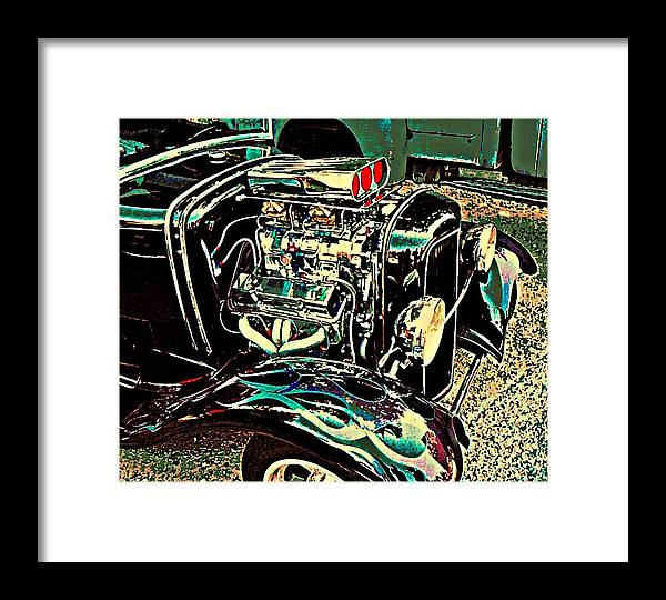 Chrome Framed Print featuring the photograph Chrome Engine by Stanley Funk