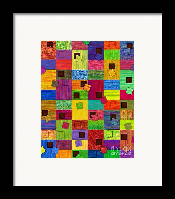 Colored Pencil Framed Print featuring the painting Chronic Tiling V2.0 by David K Small