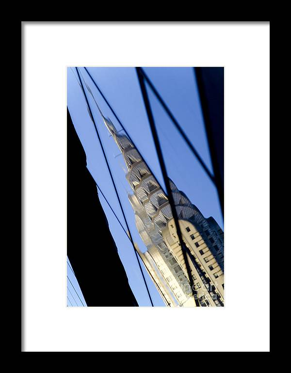Chrysler Framed Print featuring the photograph Chrysler Building by Tony Cordoza