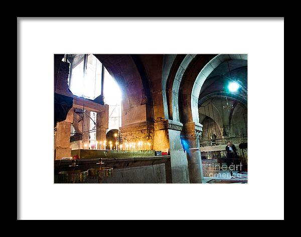 Architecture Framed Print featuring the photograph Chuch Of The Holy Sepulchre In Jerusalem by Sarka Olehlova
