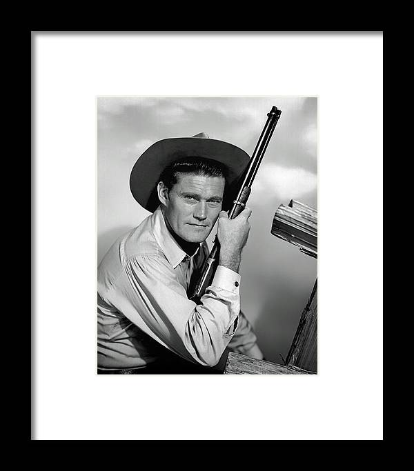 Chuck Connors Framed Print featuring the photograph Chuck Connors - The Rifleman by Mountain Dreams