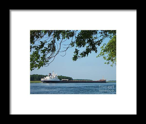 Ships Framed Print featuring the photograph Chugging Along by Margaret McDermott