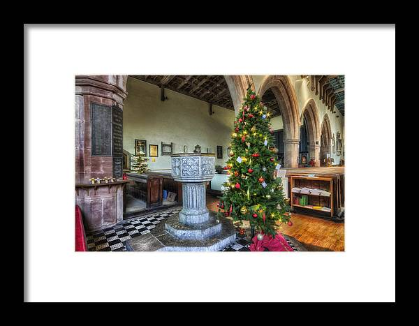 Church Framed Print featuring the photograph Church At Christmas V7 by Ian Mitchell