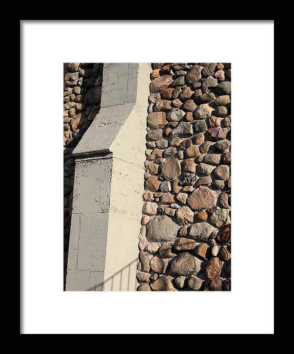Buttress Framed Print featuring the photograph Church Buttress With Shadows by Mary Bedy