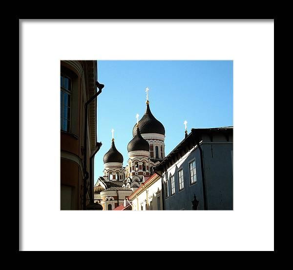 Estonia Framed Print featuring the photograph Church In Estonia by Gerald Blaine