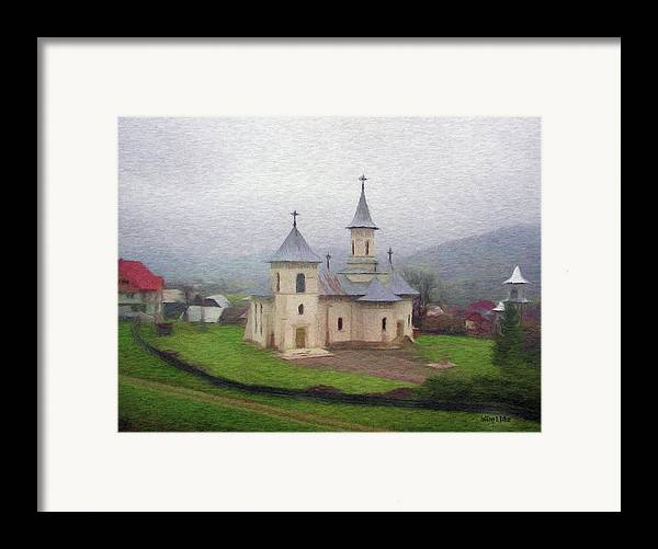 Chapel Framed Print featuring the painting Church In The Mist by Jeffrey Kolker