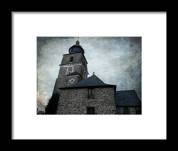 Church Framed Print featuring the photograph Church Saint Malo by Barbara Orenya