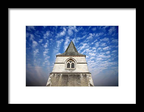 Architecture Framed Print featuring the photograph Church Spire by Steve Ball