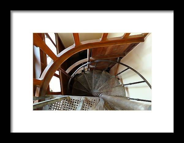 Spiral Framed Print featuring the photograph Church Stairs by Charlie and Norma Brock