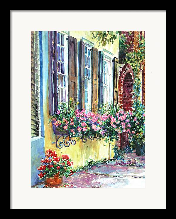 Charleston Framed Print featuring the painting Church Street Textures by Alice Grimsley
