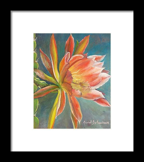 Acrylic Framed Print featuring the painting Cierge en Fleur by Muriel Dolemieux
