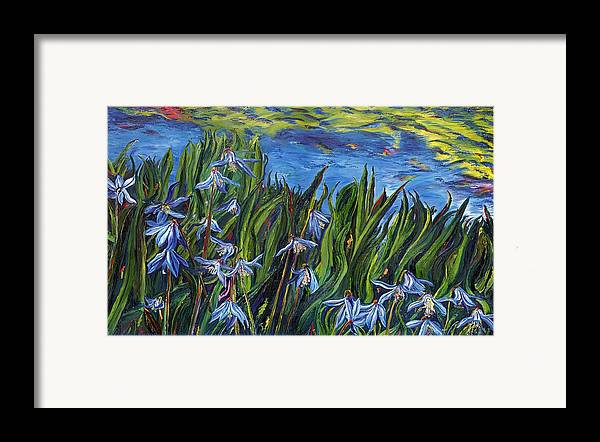 Flowers Framed Print featuring the painting Cilia Flowers by Gregory Allen Page