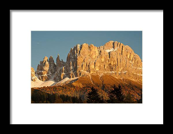 Dolomites Framed Print featuring the photograph Cima Catinaccio by Corinna Stoeffl