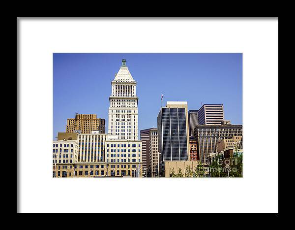 2012 Framed Print featuring the photograph Cincinnati Downtown City Buildings Business District by Paul Velgos