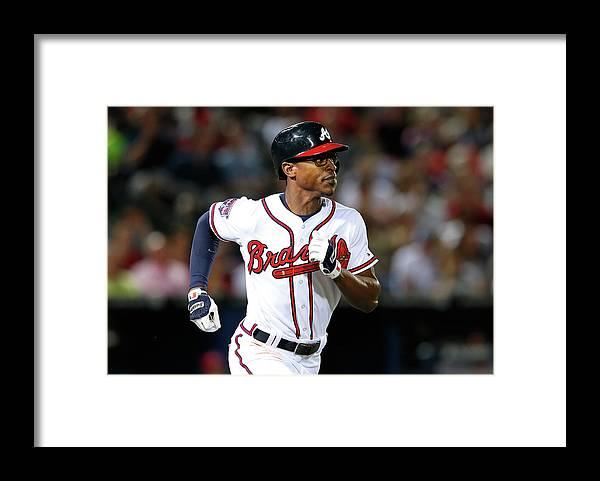 Atlanta Framed Print featuring the photograph Cincinnati Reds V Atlanta Braves by Kevin C. Cox