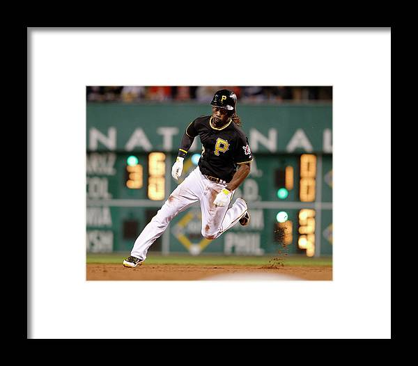 Pnc Park Framed Print featuring the photograph Cincinnati Reds V Pittsburgh Pirates by David Maxwell