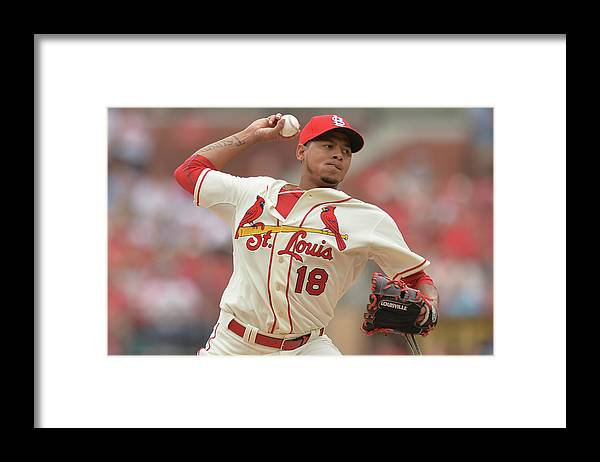 St. Louis Cardinals Framed Print featuring the photograph Cincinnati Reds V St. Louis Cardinals by Michael Thomas