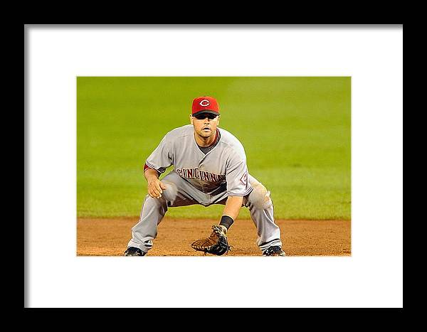 Celebration Framed Print featuring the photograph Cincinnati Reds V Washington Nationals by Mitchell Layton