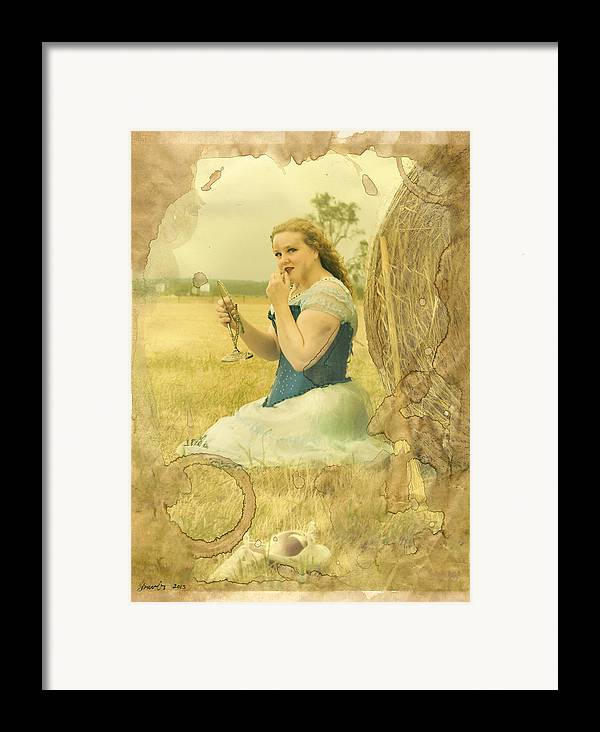 Strawberries Framed Print featuring the photograph Cinderella Fairy Godmothers Don't Exsist by Eating Strawberries