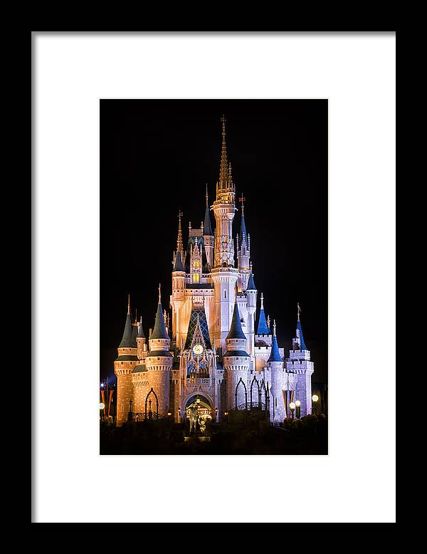 3scape Framed Print featuring the photograph Cinderella's Castle in Magic Kingdom by Adam Romanowicz