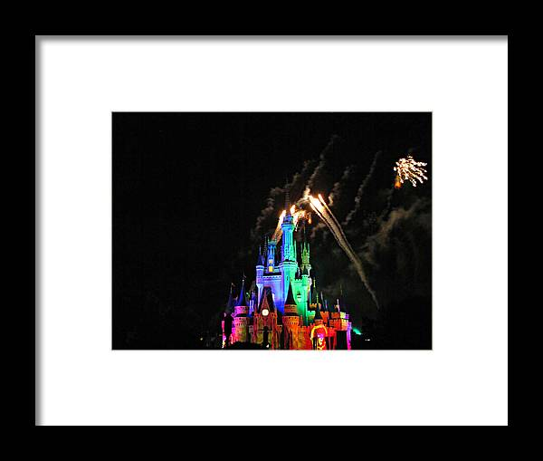 Cinderella's Castle Framed Print featuring the photograph Cinderella's Castle by Sherri McCollum