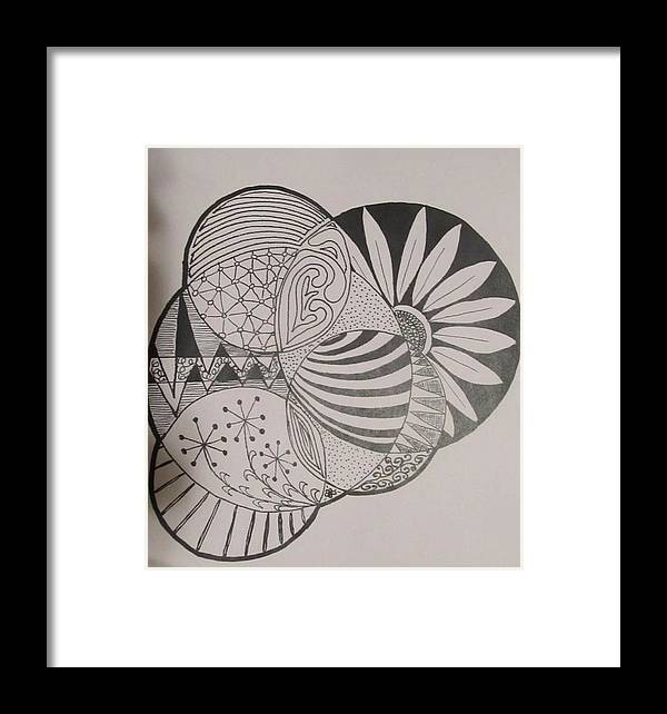 Circles Framed Print featuring the painting Circles Of Zen Tangle by Sharon Duguay