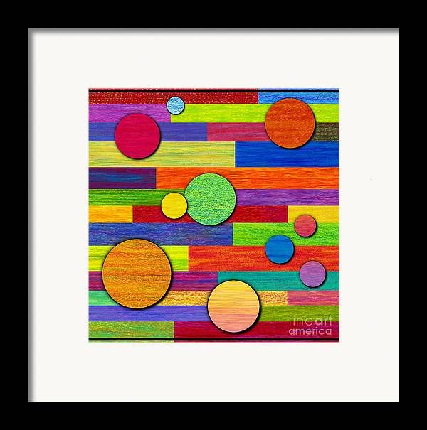 Colored Pencil Framed Print featuring the painting Circular Bystanders by David K Small