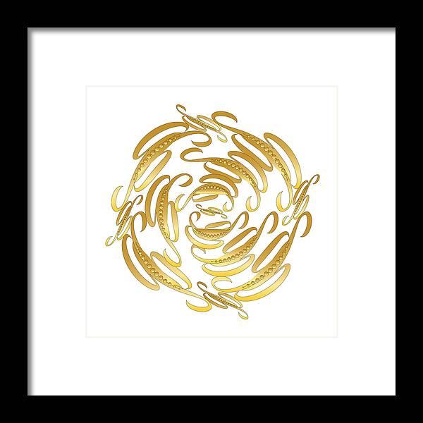 Mandala Framed Print featuring the digital art Circularity No. 671 by Alan Bennington