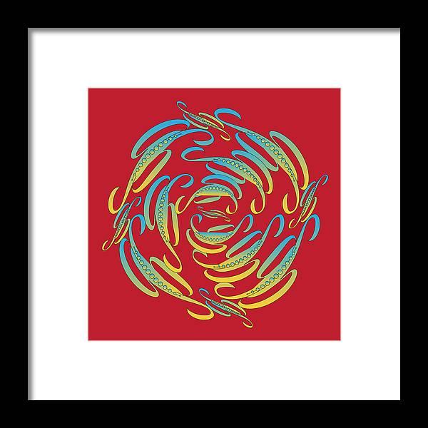 Mandala Framed Print featuring the digital art Circularity No. 674 by Alan Bennington