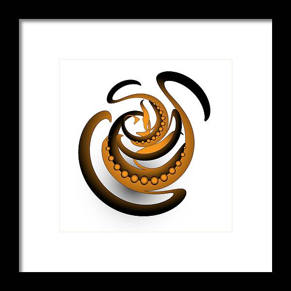 Mandala Framed Print featuring the digital art Circularity No. 688 by Alan Bennington
