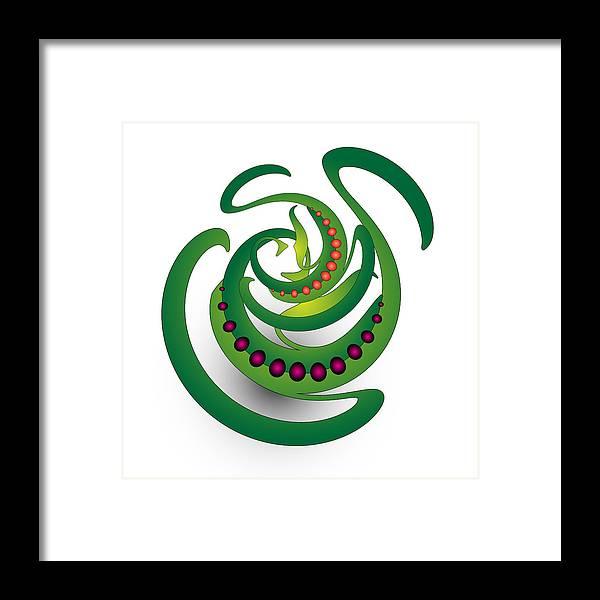 Mandala Framed Print featuring the digital art Circularity No. 690 by Alan Bennington