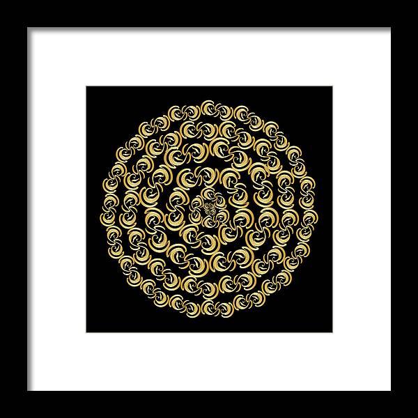 Mandala Framed Print featuring the digital art Circularity No. 691 by Alan Bennington