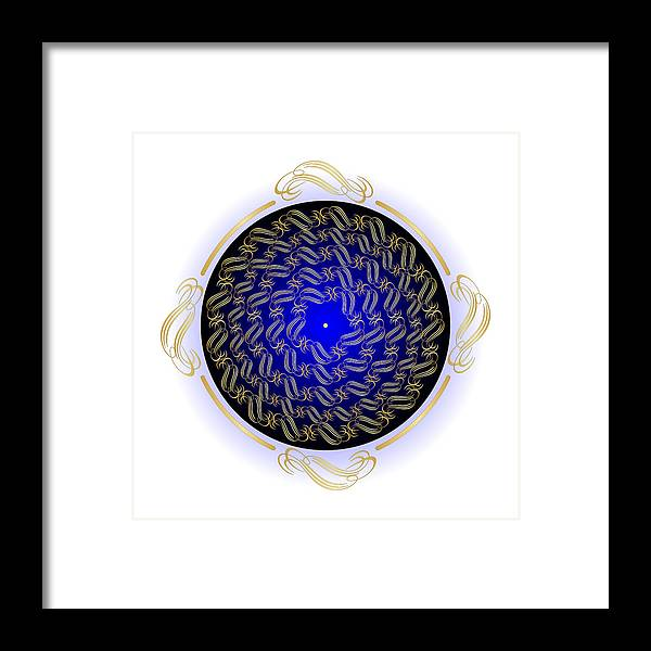 Mandala Framed Print featuring the digital art Circularity No. 714 by Alan Bennington