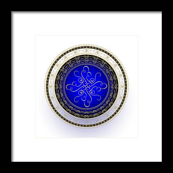 Mandala Framed Print featuring the digital art Circularity No. 724 by Alan Bennington