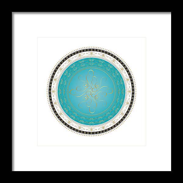 Mandala Framed Print featuring the digital art Circularity No. 728 by Alan Bennington