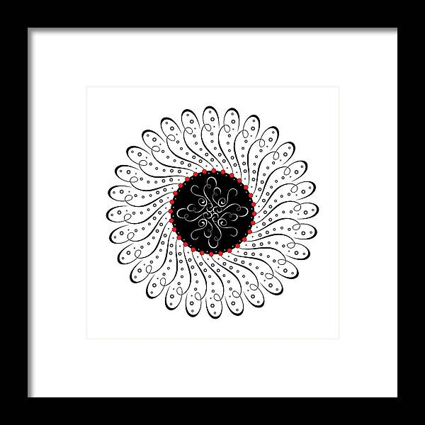 Mandala Framed Print featuring the digital art Circularity No. 748 by Alan Bennington