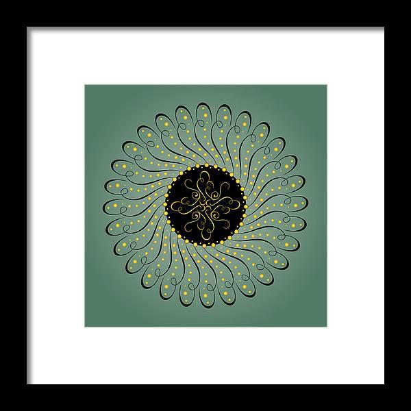 Mandala Framed Print featuring the digital art Circularity No. 750 by Alan Bennington