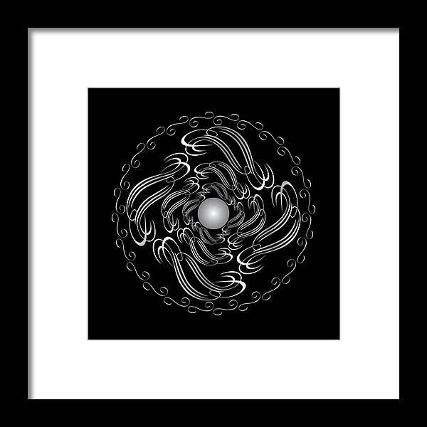 Mandala Framed Print featuring the digital art Circularity No. 751 by Alan Bennington