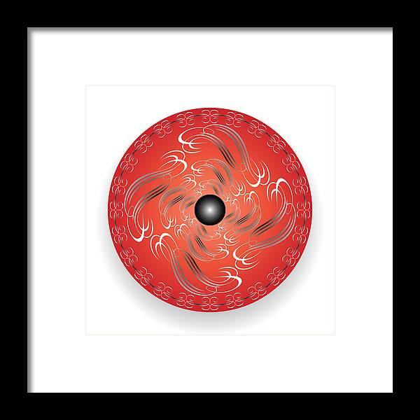 Mandala Framed Print featuring the digital art Circularity No. 754 by Alan Bennington