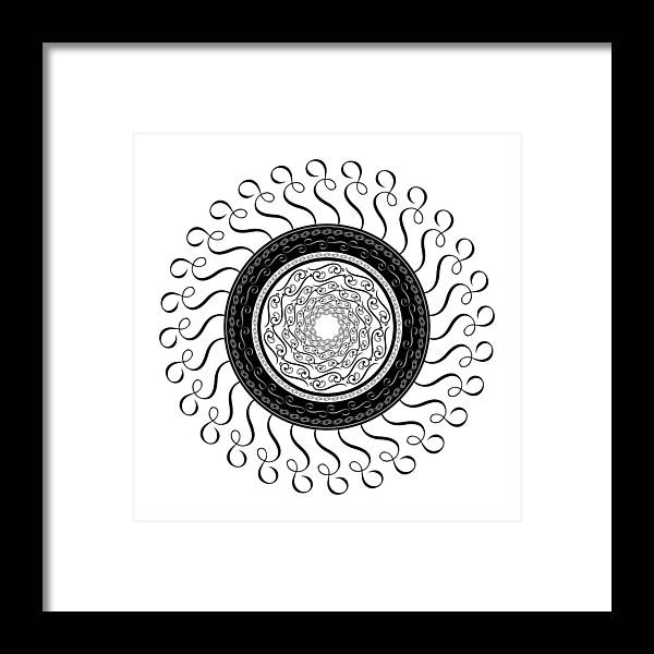 Mandala Framed Print featuring the digital art Circularity No. 764 by Alan Bennington