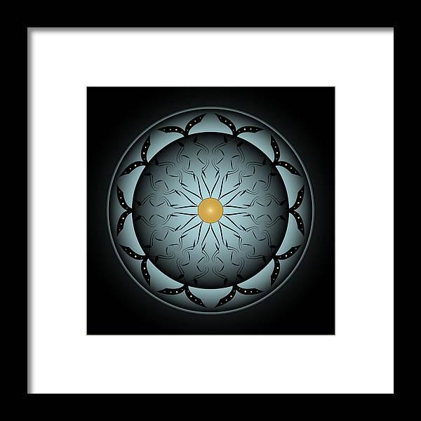 Mandala Framed Print featuring the digital art Circularity No. 767 by Alan Bennington