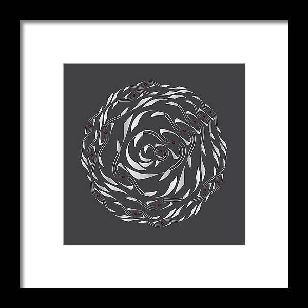 Mandala Framed Print featuring the digital art Circularity No. 770 by Alan Bennington