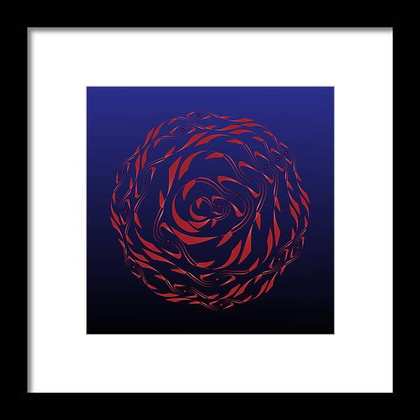 Mandala Framed Print featuring the digital art Circularity No. 772 by Alan Bennington