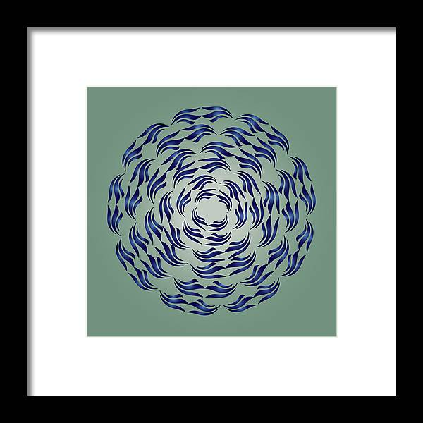 Mandala Framed Print featuring the digital art Circularity No. 782 by Alan Bennington