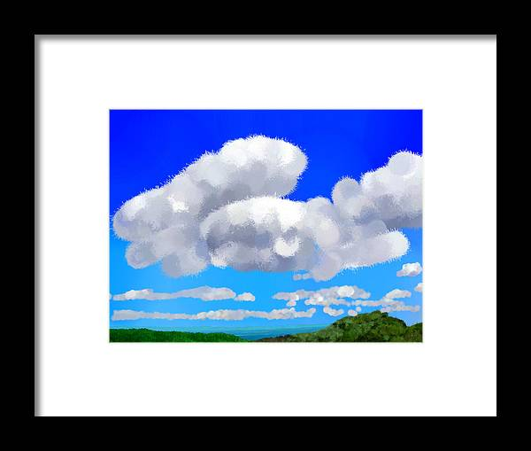 Clouds Framed Print featuring the painting Cumulus Impressionism by Bruce Nutting