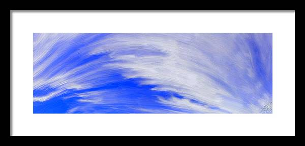 Clouds Framed Print featuring the painting Cirrus Sky by Bruce Nutting