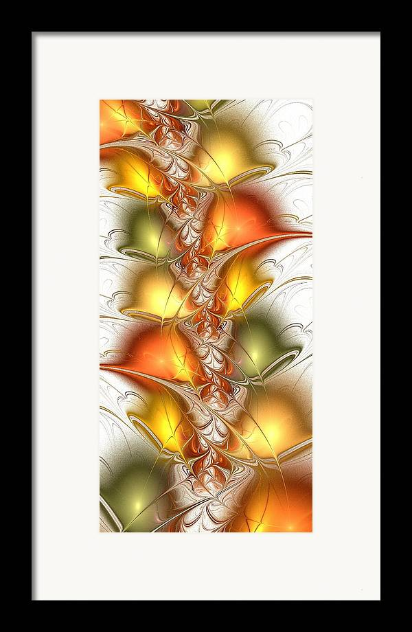 Malakhova Framed Print featuring the digital art Citrus Colors by Anastasiya Malakhova