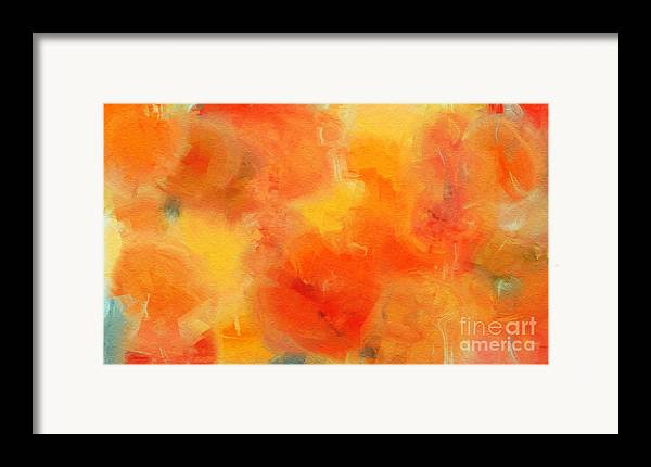 Andee Design Abstract Framed Print featuring the digital art Citrus Passion - Abstract - Digital Painting by Andee Design